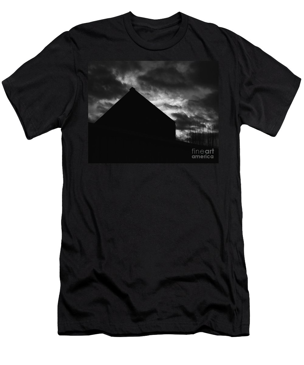 Black And White Men's T-Shirt (Athletic Fit) featuring the photograph Early Morning by Peter Piatt