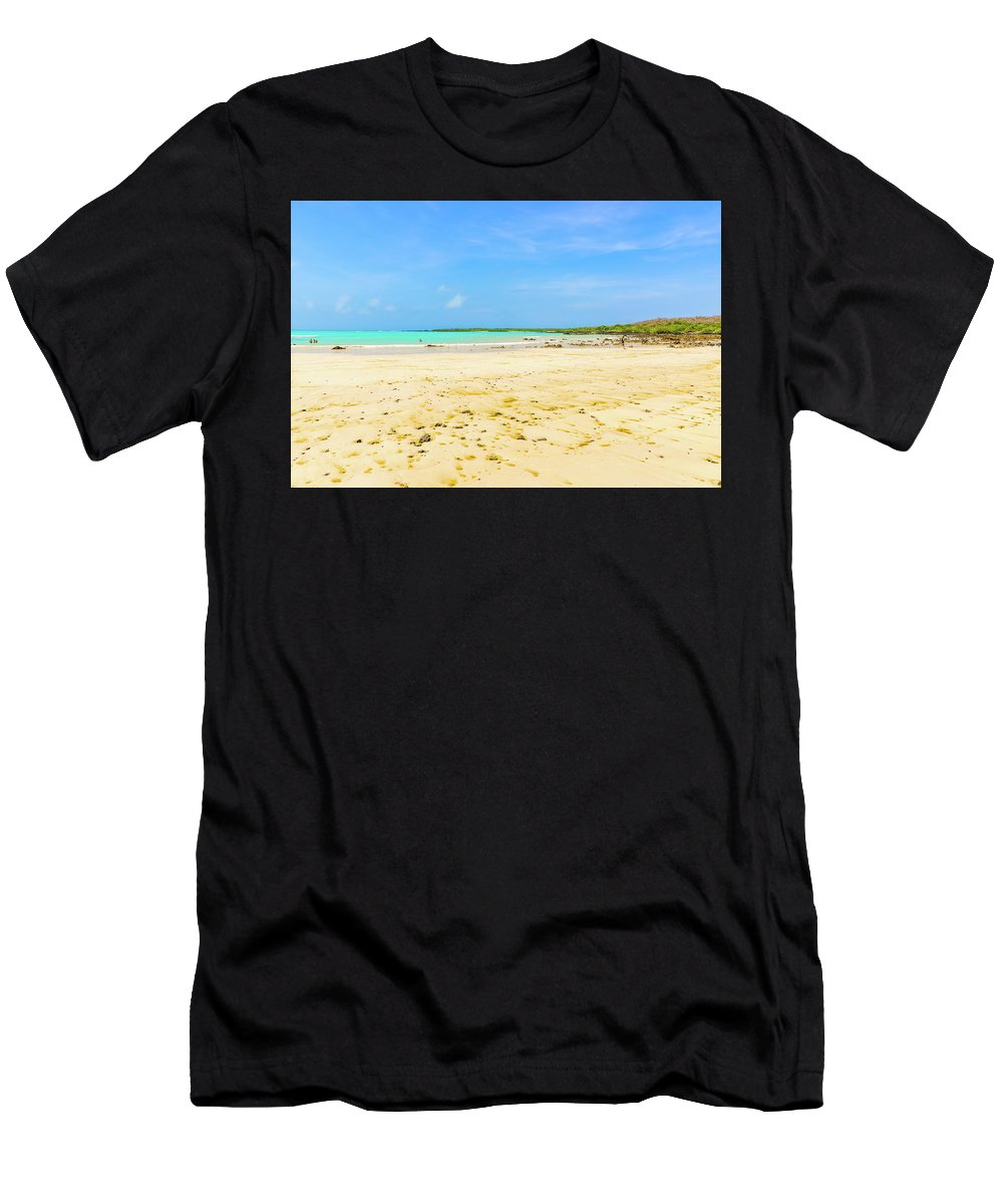 Santa Cruz Men's T-Shirt (Athletic Fit) featuring the photograph El Garrapatero Beach On Santa Cruz Island In Galapagos. by Marek Poplawski