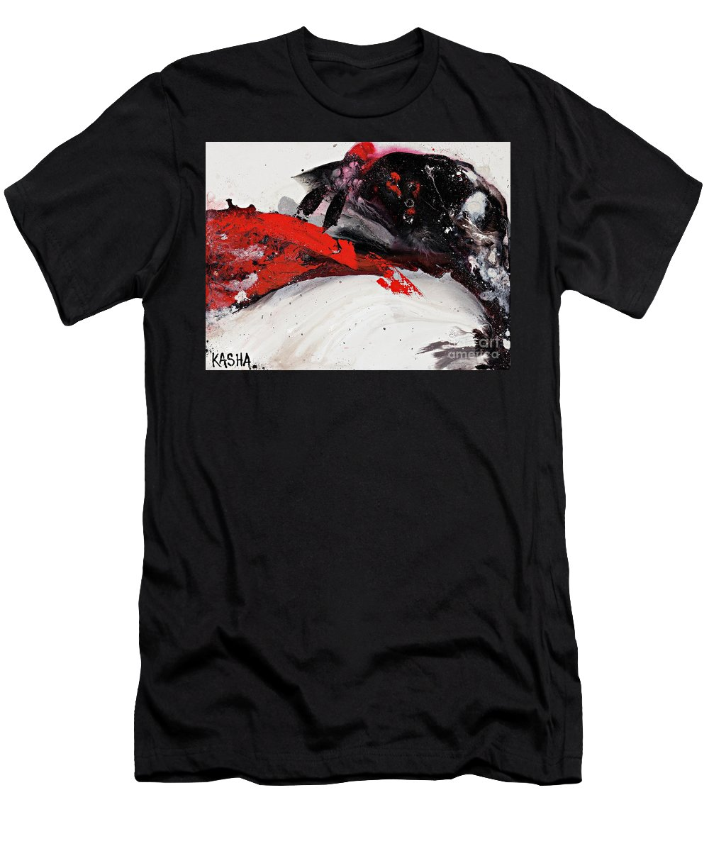 Abstract Art Men's T-Shirt (Athletic Fit) featuring the painting Embed by Kasha Ritter