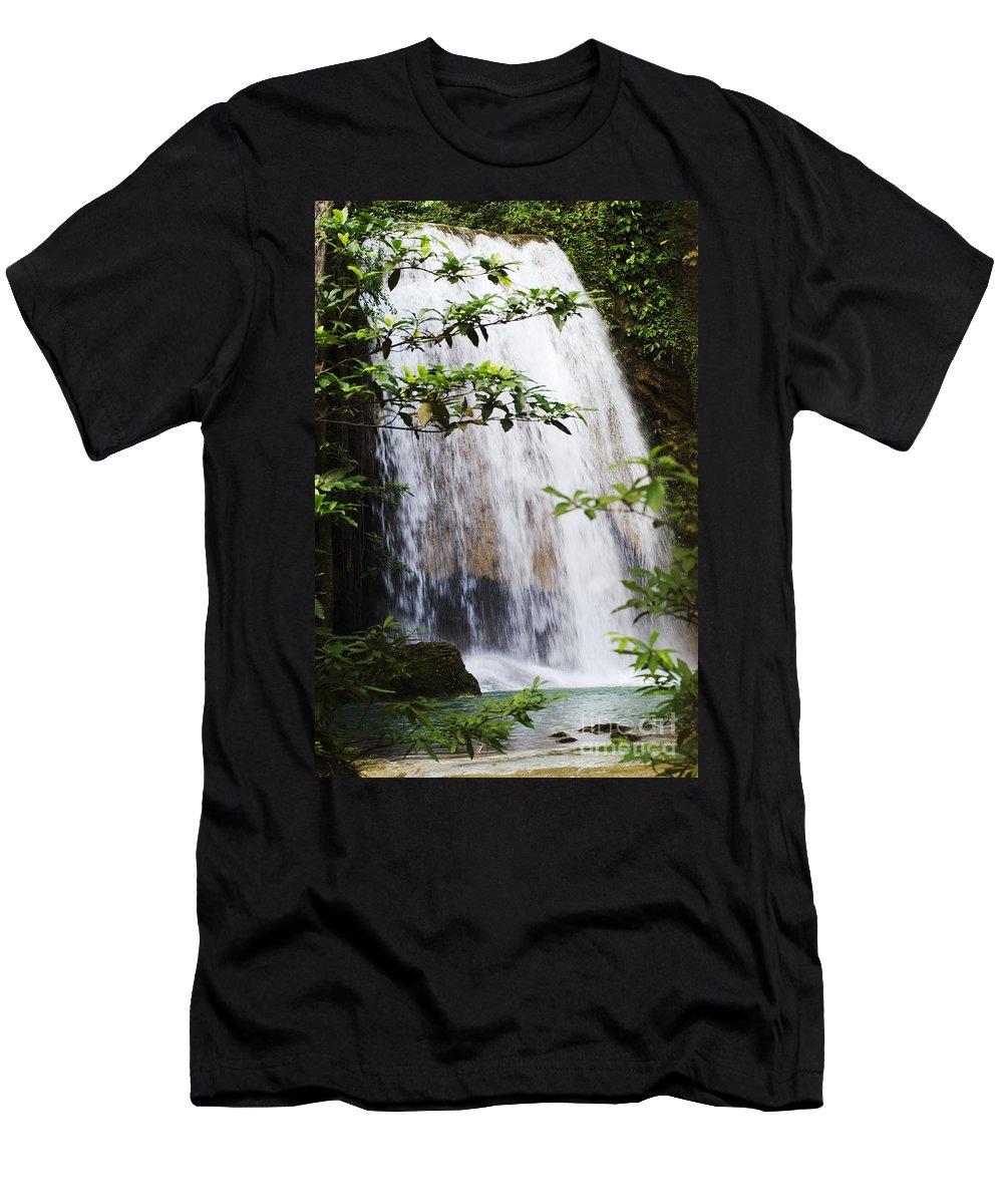 Bill Brennan Men's T-Shirt (Athletic Fit) featuring the photograph Erawan National Park by Bill Brennan - Printscapes