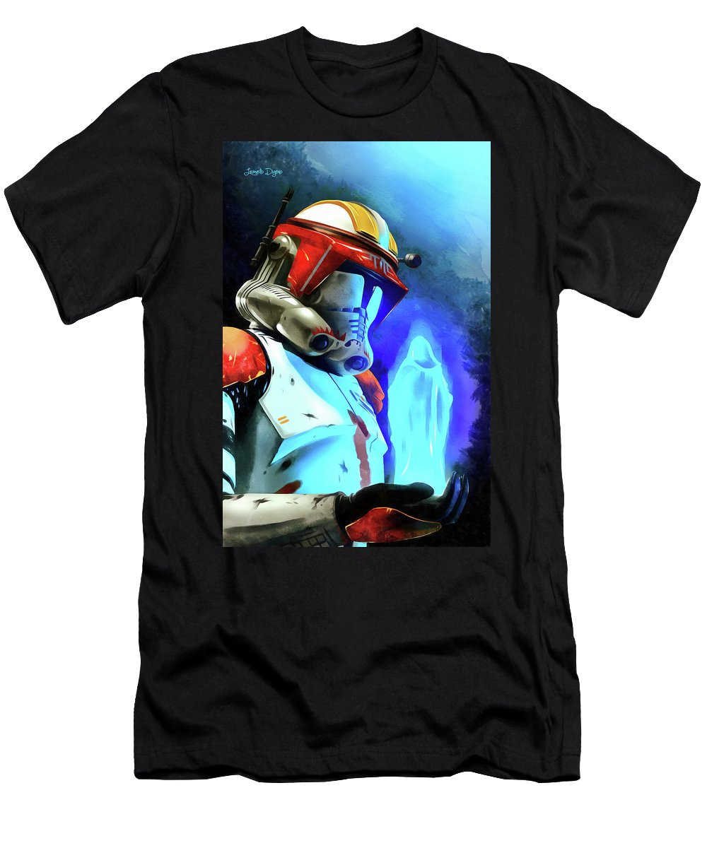Execute Order 66 Men's T-Shirt (Athletic Fit) featuring the painting Execute Order 66 - Acrylic Style by Leonardo Digenio