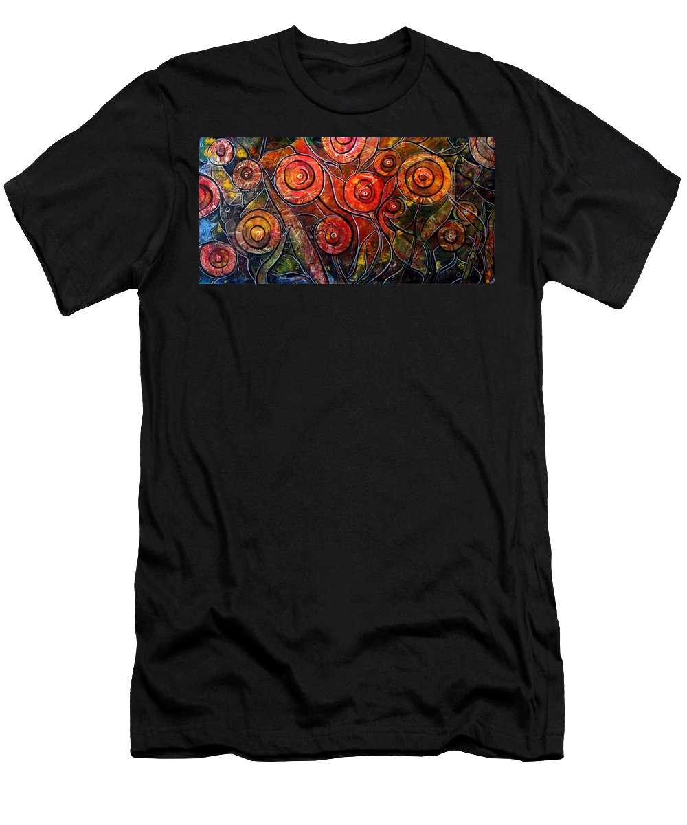 Exotic Men's T-Shirt (Athletic Fit) featuring the painting Exotic Foliage by Luiza Vizoli