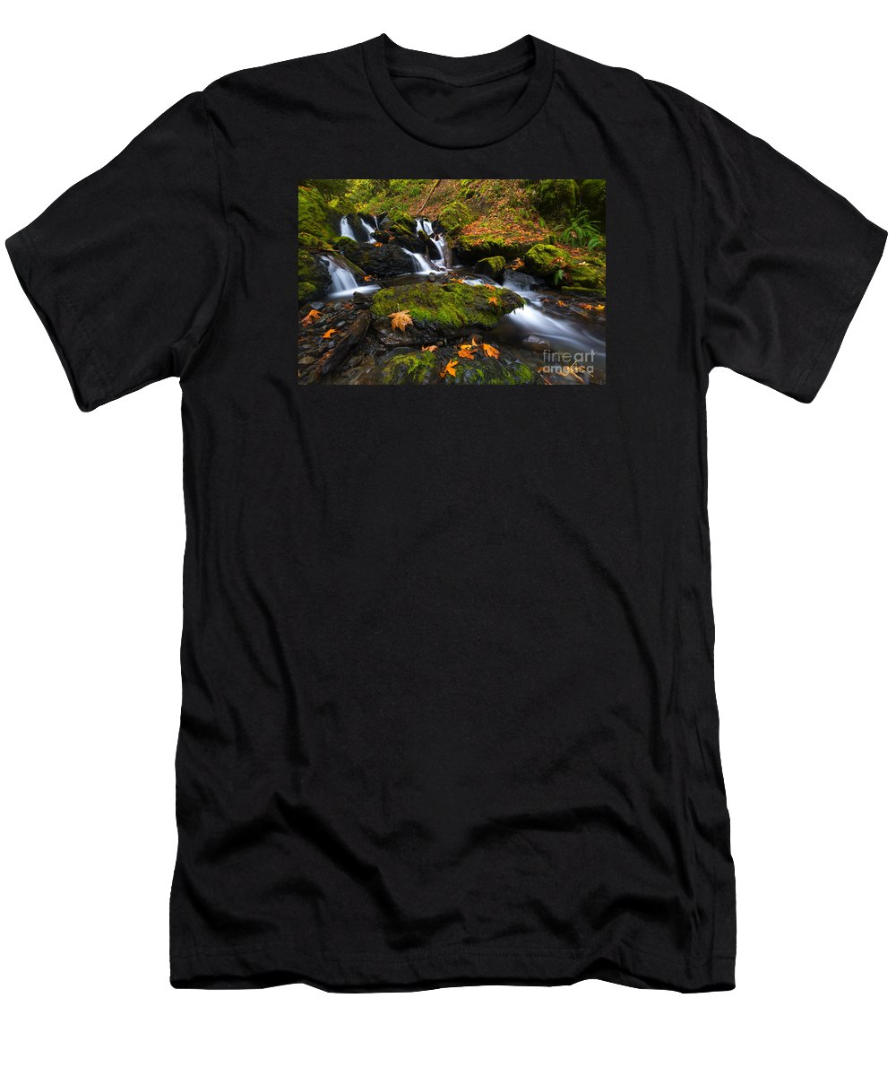 Leaves T-Shirt featuring the photograph Fallen Along The Way by Mike Dawson