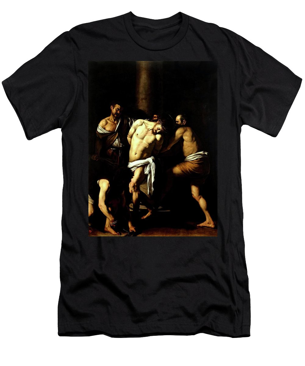 Italian Men's T-Shirt (Athletic Fit) featuring the painting Flagellation Of Christ by Troy Caperton