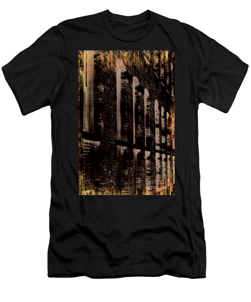 Jamie Lynn Gabrich Men's T-Shirt (Athletic Fit) featuring the photograph Forlorn Abstraction by Jamie Lynn