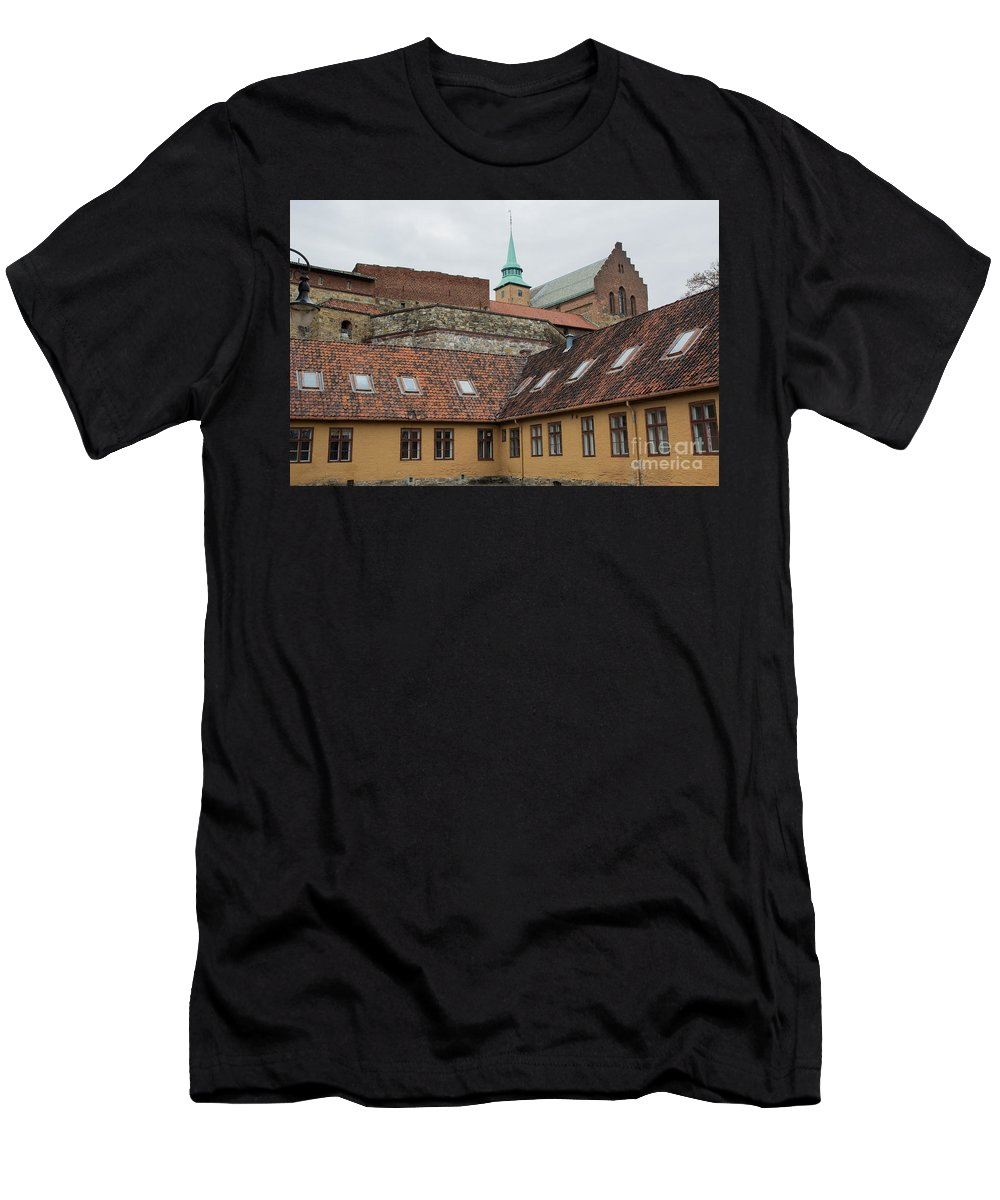 Akershus Men's T-Shirt (Athletic Fit) featuring the photograph Fortress by Suzanne Luft