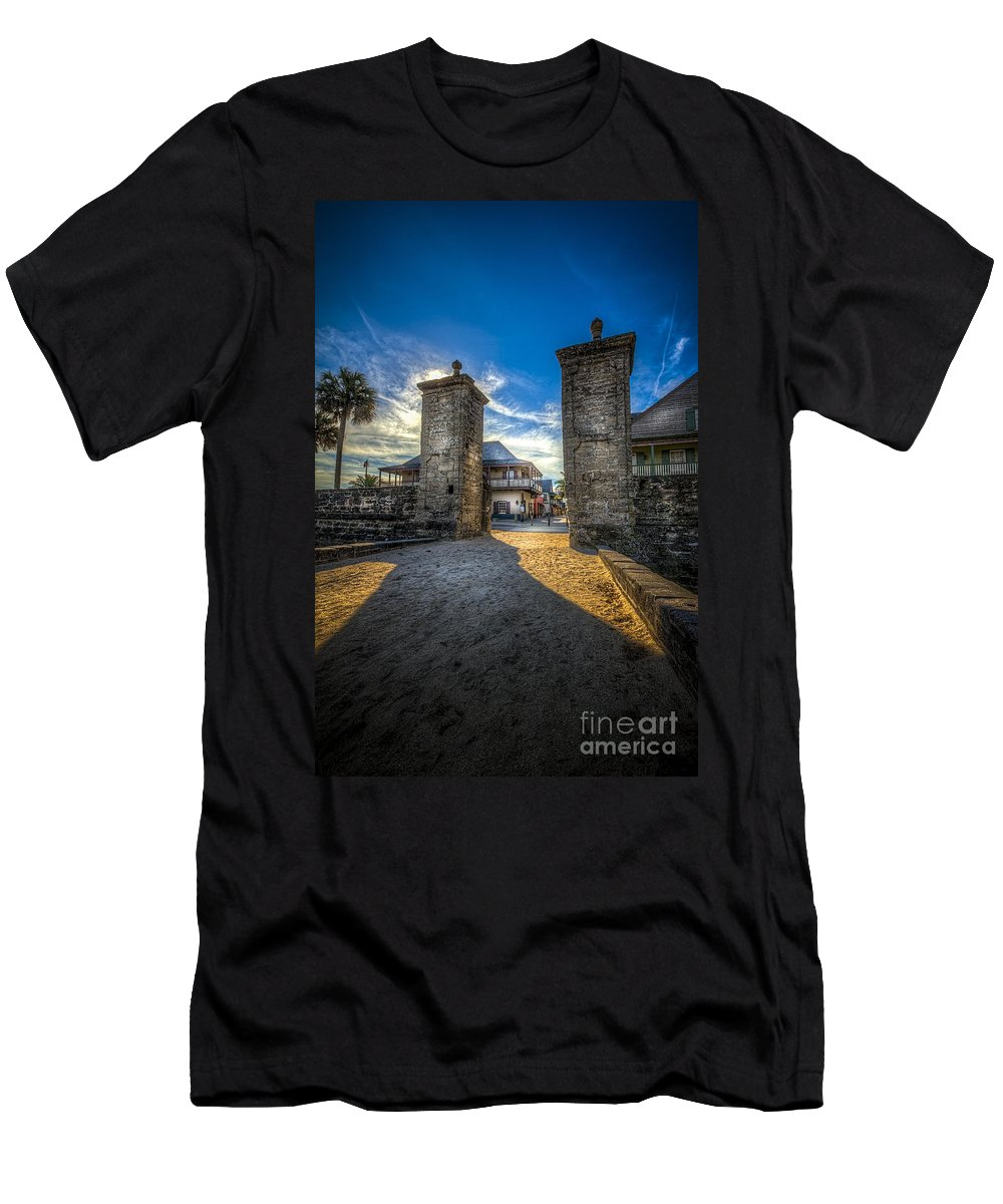Fort Men's T-Shirt (Athletic Fit) featuring the photograph Gate To The City 2 by Marvin Spates