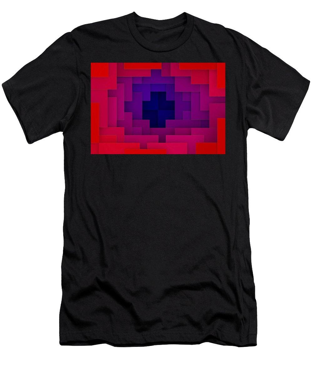 Geometry Men's T-Shirt (Athletic Fit) featuring the digital art Geometry by Lora Battle