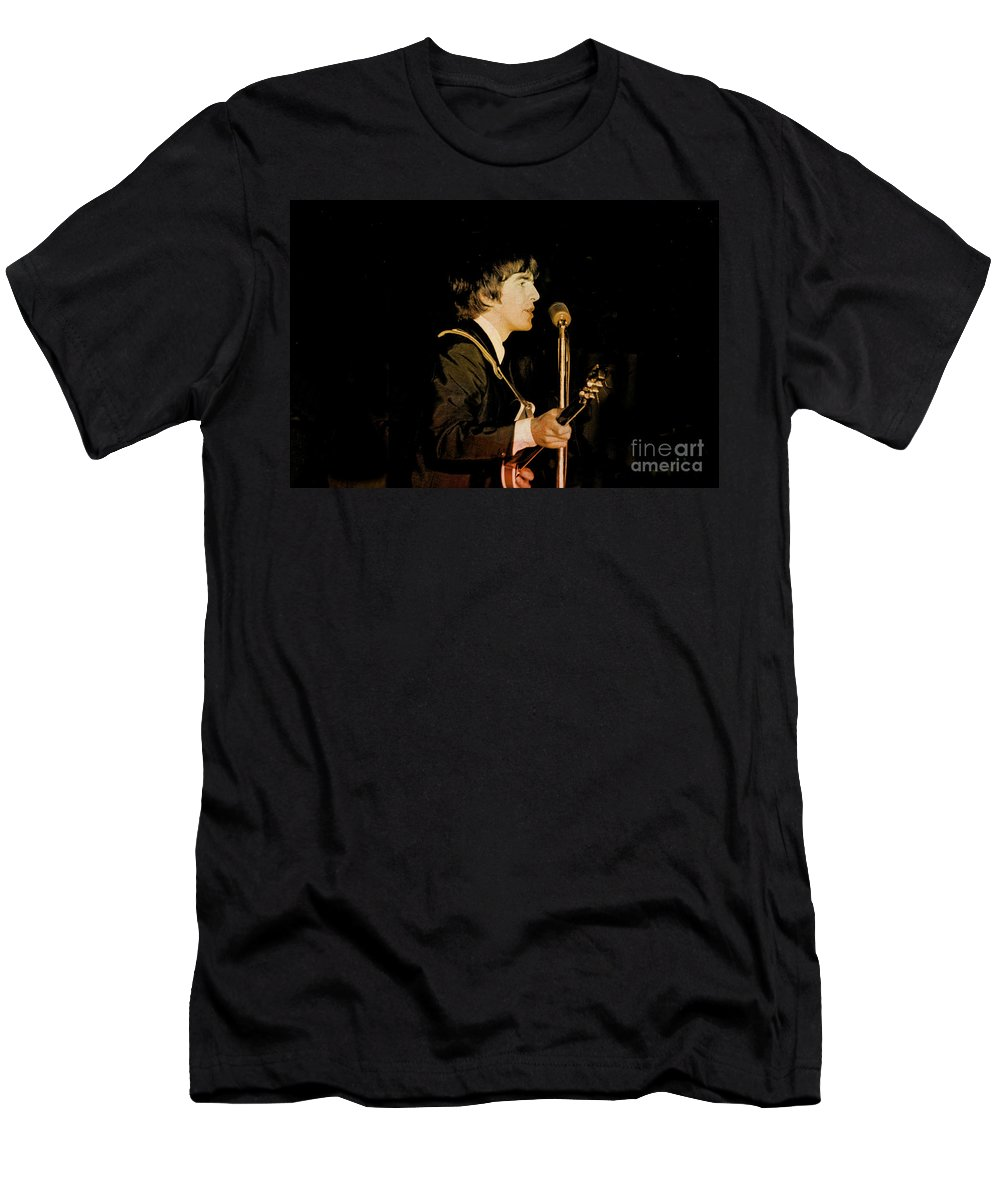 Beatles T-Shirt featuring the photograph George Harrison by Larry Mulvehill