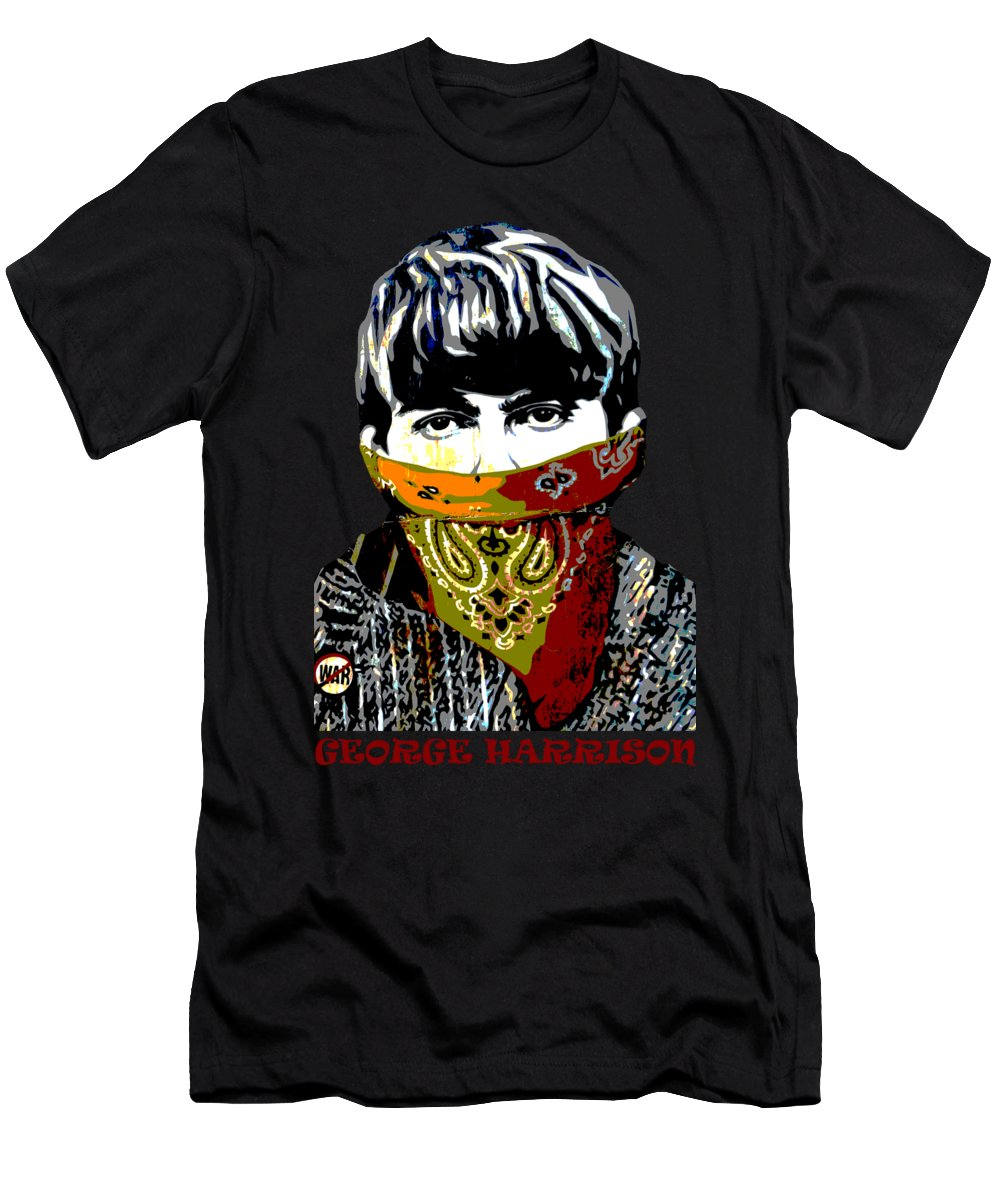 Banksy T-Shirt featuring the photograph George Harrison wearing a face mask by RicardMN Photography