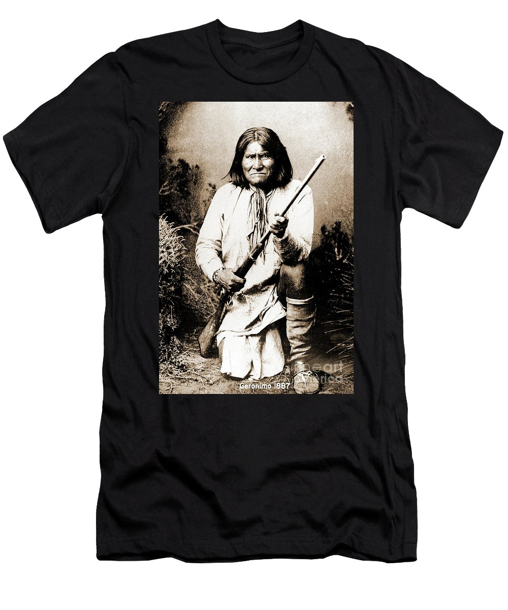 Native Men's T-Shirt (Athletic Fit) featuring the photograph Geronimo by Gary Wonning