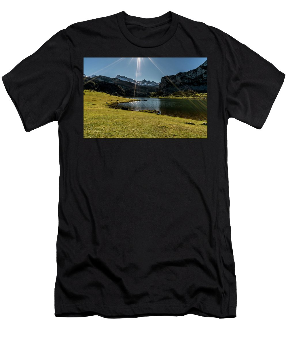Spain Men's T-Shirt (Athletic Fit) featuring the photograph Glacier Formed by Ric Schafer