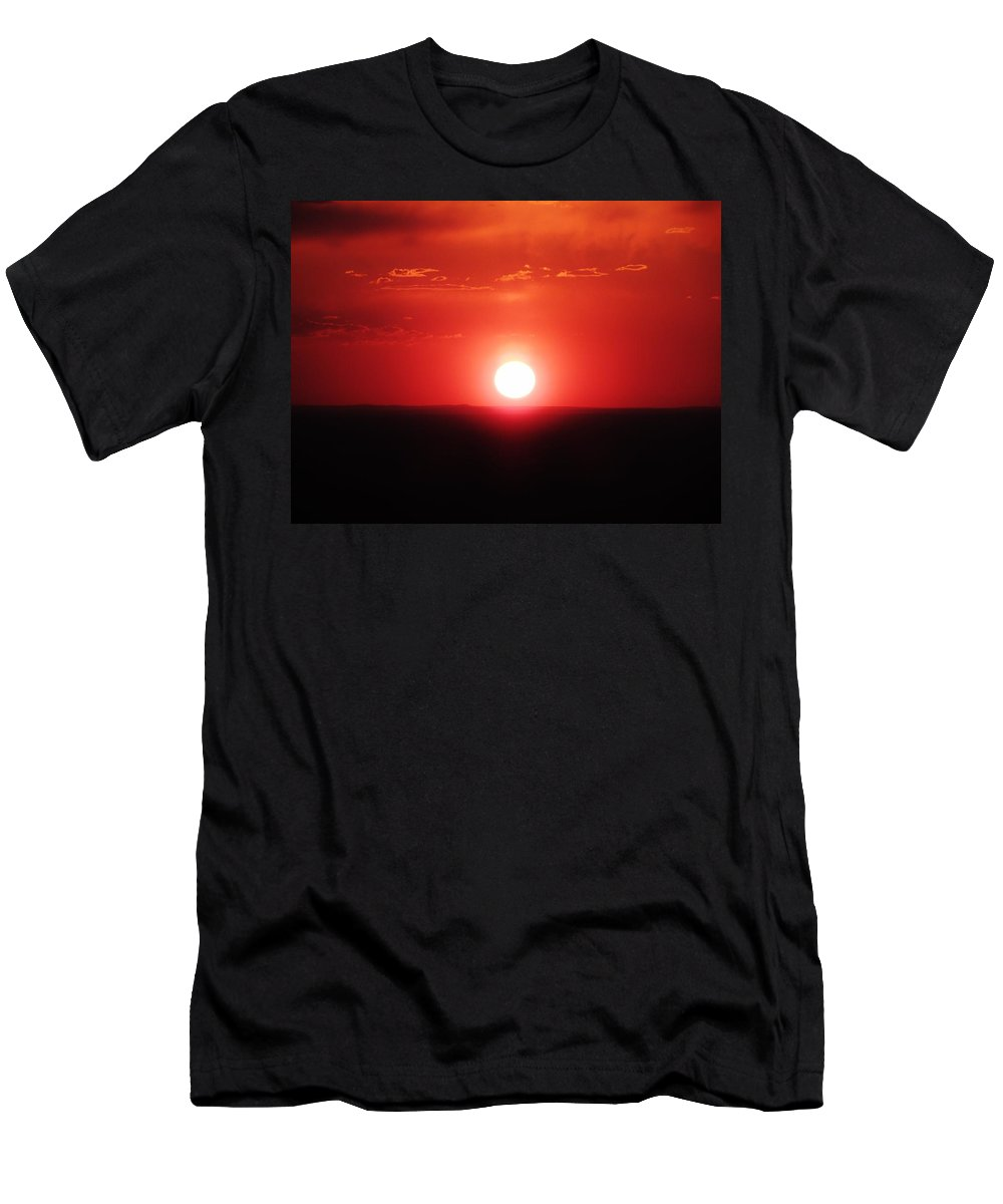 Sunset Men's T-Shirt (Athletic Fit) featuring the painting Glorious Sunsetting by Lois  Rivera