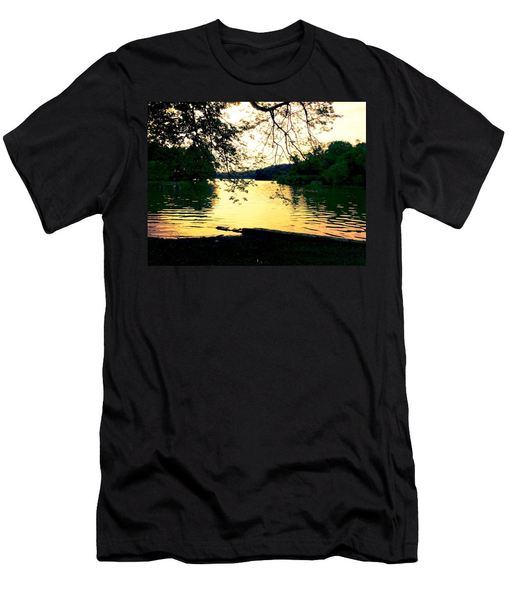 Landscape Men's T-Shirt (Athletic Fit) featuring the photograph Golden Days by Kendall Eutemey