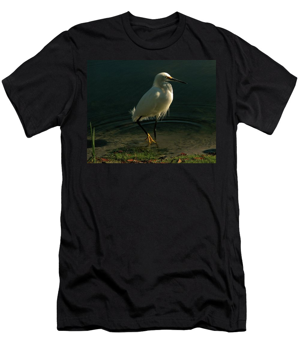 Nature Men's T-Shirt (Athletic Fit) featuring the photograph Golden Slippers by Peg Urban
