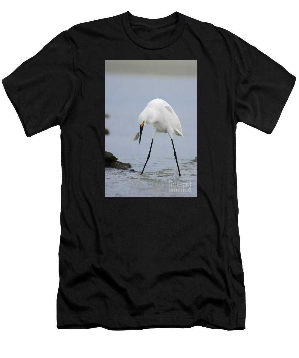 Men's T-Shirt (Athletic Fit) featuring the photograph Got One by Angela Rath