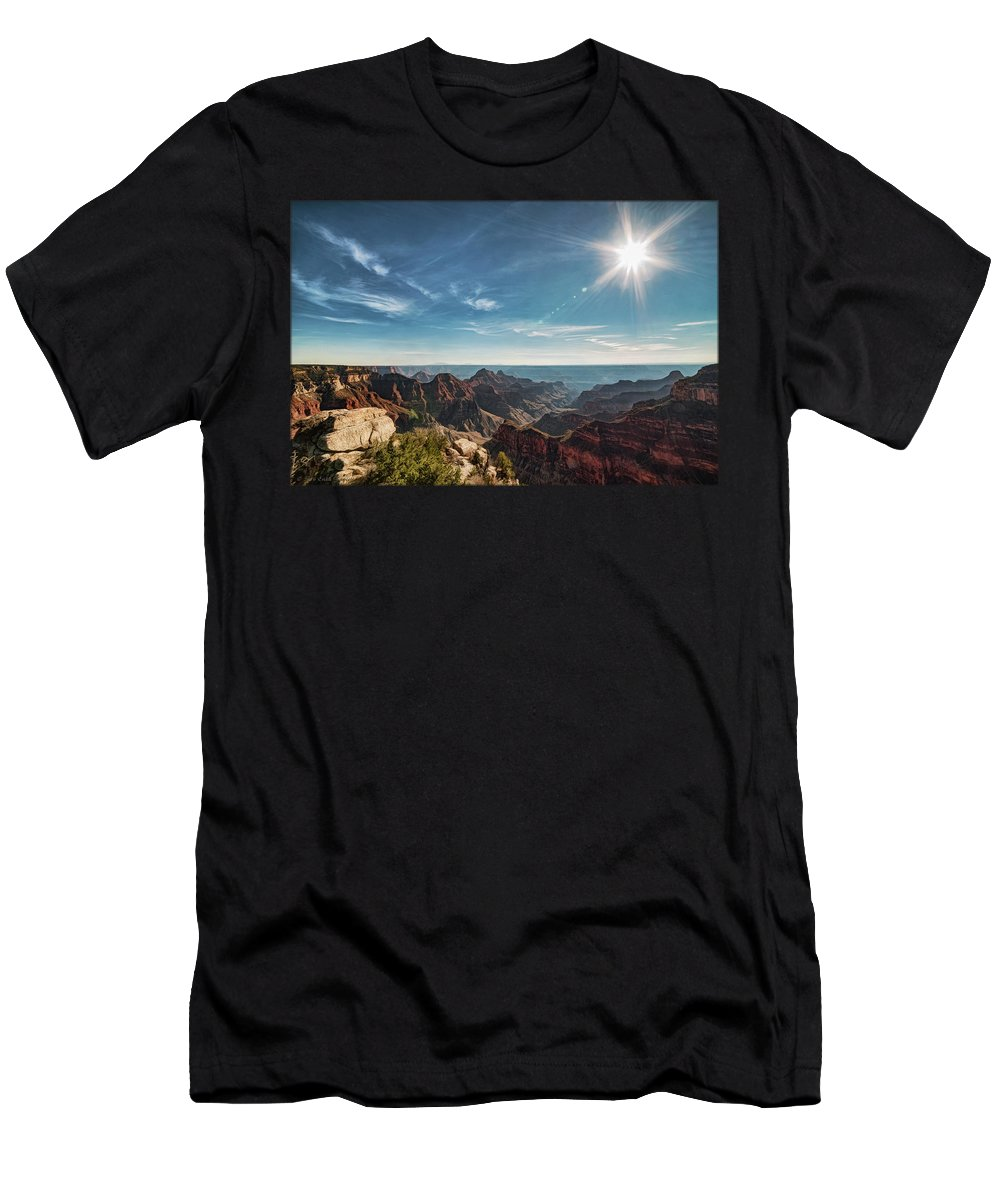 Grand Canyon Men's T-Shirt (Athletic Fit) featuring the photograph Grand Canyon by Erika Fawcett