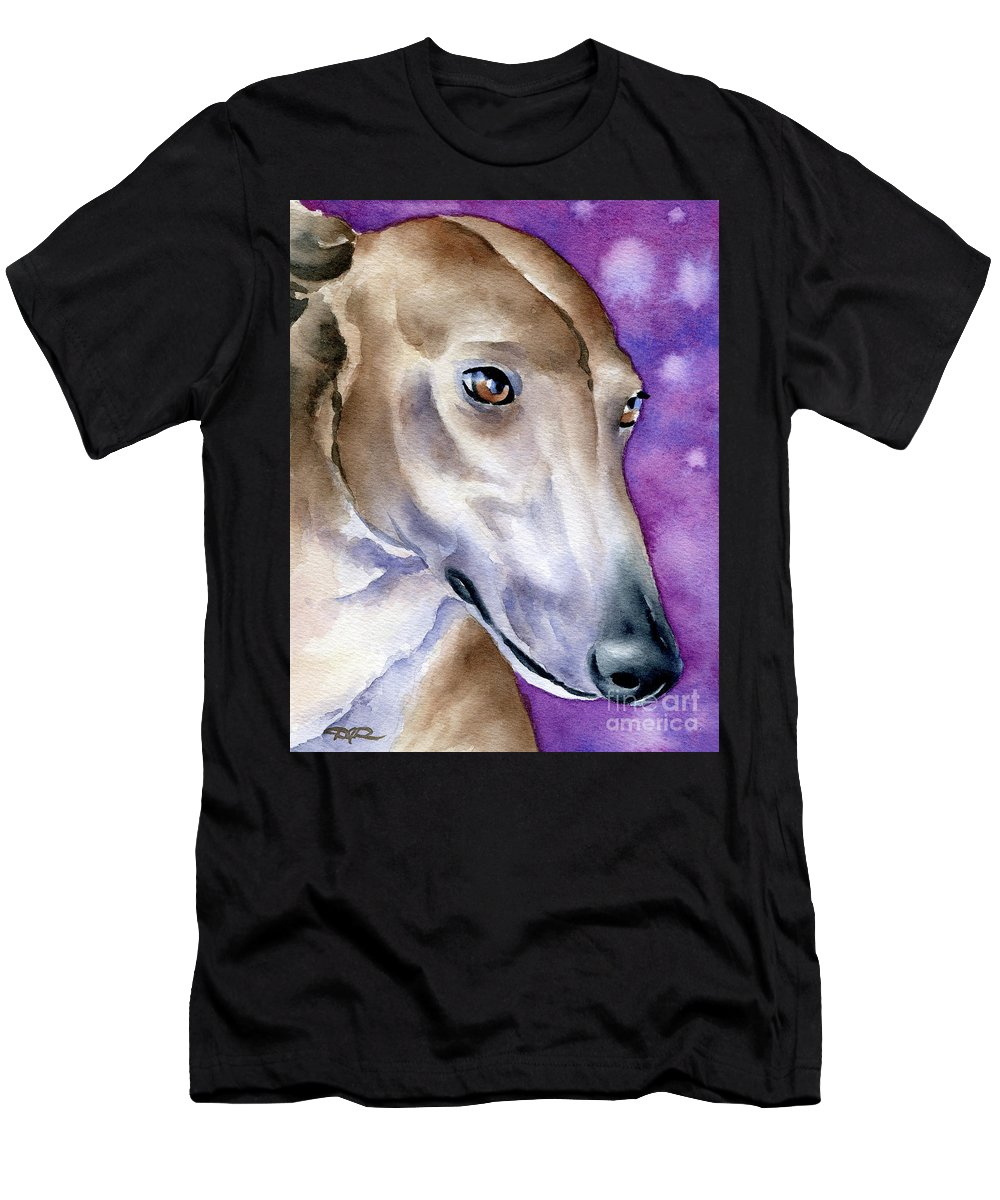 Greyhound Men's T-Shirt (Athletic Fit) featuring the painting Greyhound by David Rogers