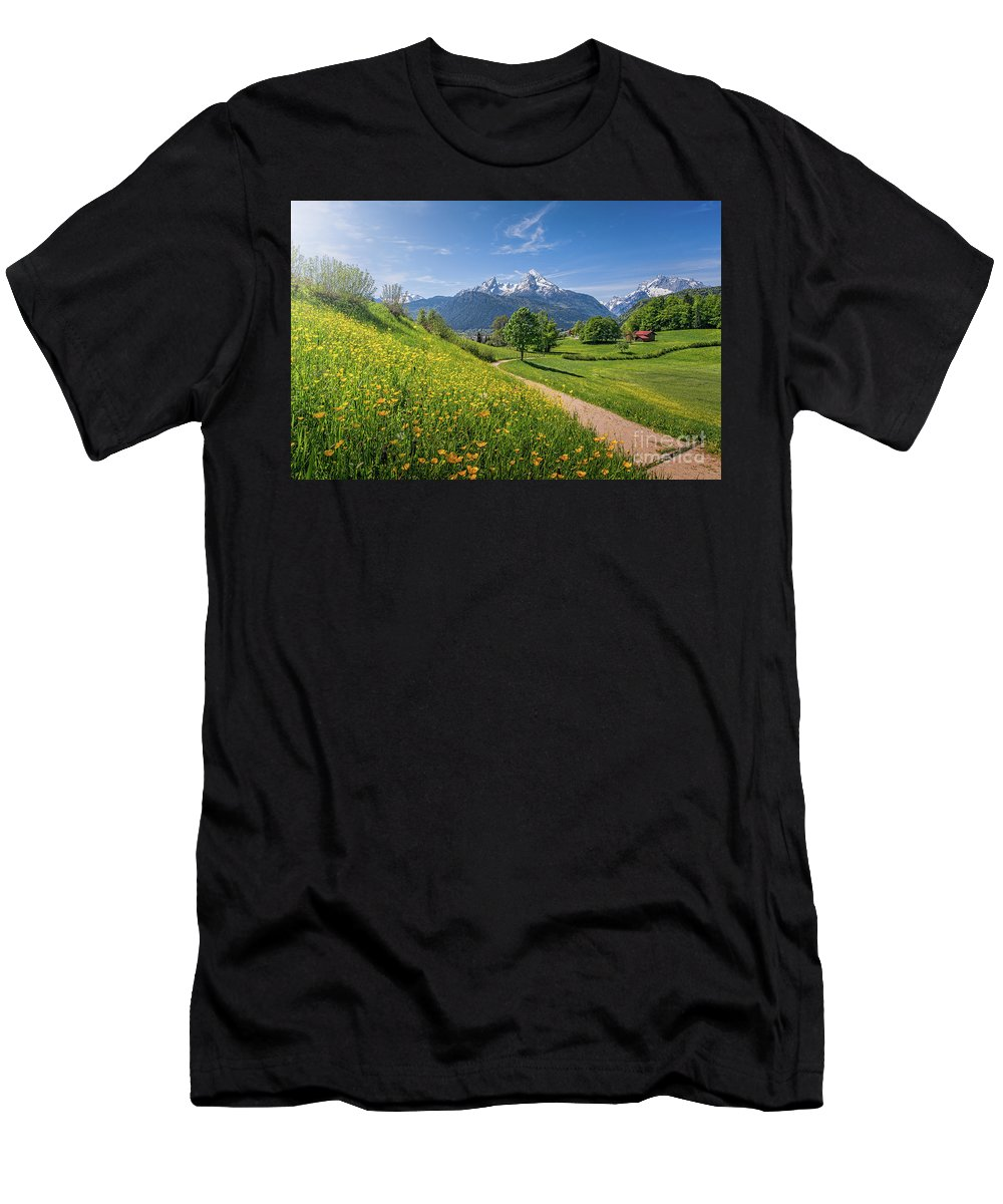 Alpen Men's T-Shirt (Athletic Fit) featuring the photograph Halfway To Paradise by JR Photography