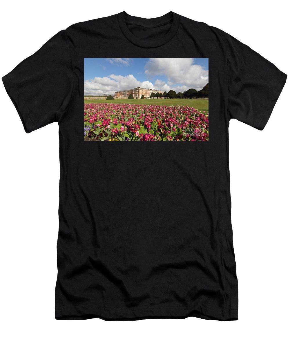 Hampton Court Palace London Uk Men's T-Shirt (Athletic Fit) featuring the photograph Hampton Court Palace London Uk by Julia Gavin
