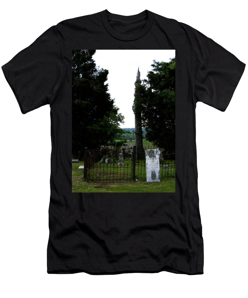Landscape Men's T-Shirt (Athletic Fit) featuring the photograph Heroes Of Olmsted by Rachel Christine Nowicki