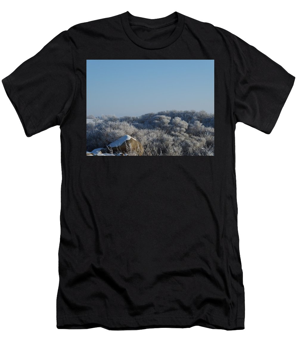Frost Men's T-Shirt (Athletic Fit) featuring the photograph Hoarfrost by Somerled Karlsson