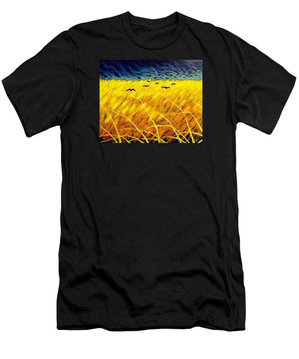 Acrylic Men's T-Shirt (Athletic Fit) featuring the painting Homage To Vincent by John Nolan
