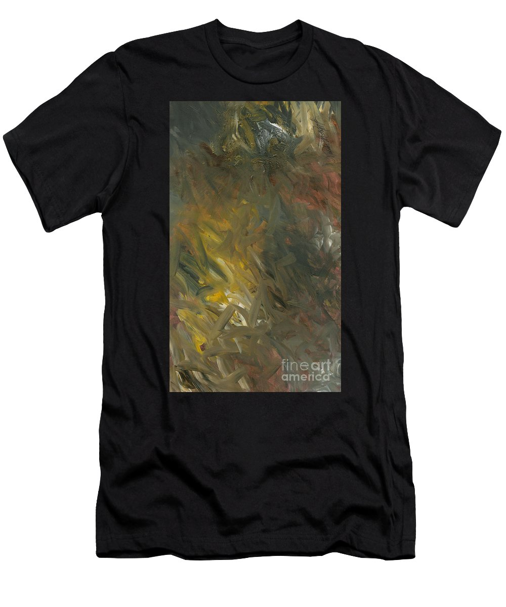 Gold Men's T-Shirt (Athletic Fit) featuring the painting Hope by Nadine Rippelmeyer