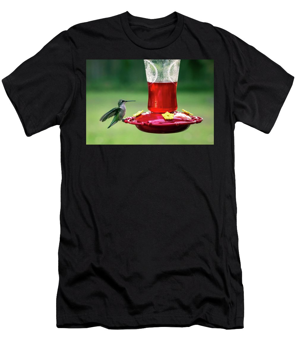 Animal Men's T-Shirt (Athletic Fit) featuring the photograph Hummingbird by Denis Lemay
