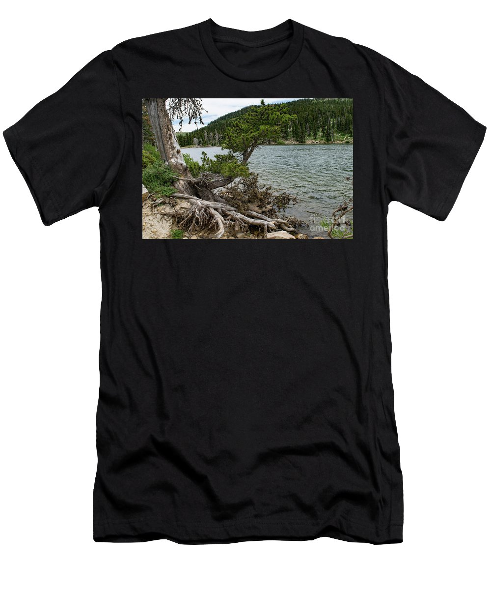Lake Cleveland Men's T-Shirt (Athletic Fit) featuring the photograph Idaho Lake by Steven Eyre Photography