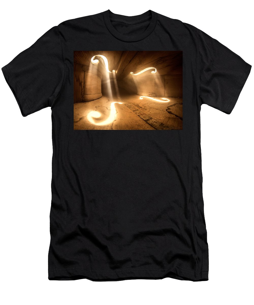 Violin T-Shirt featuring the photograph Inside Violin by Adrian Borda