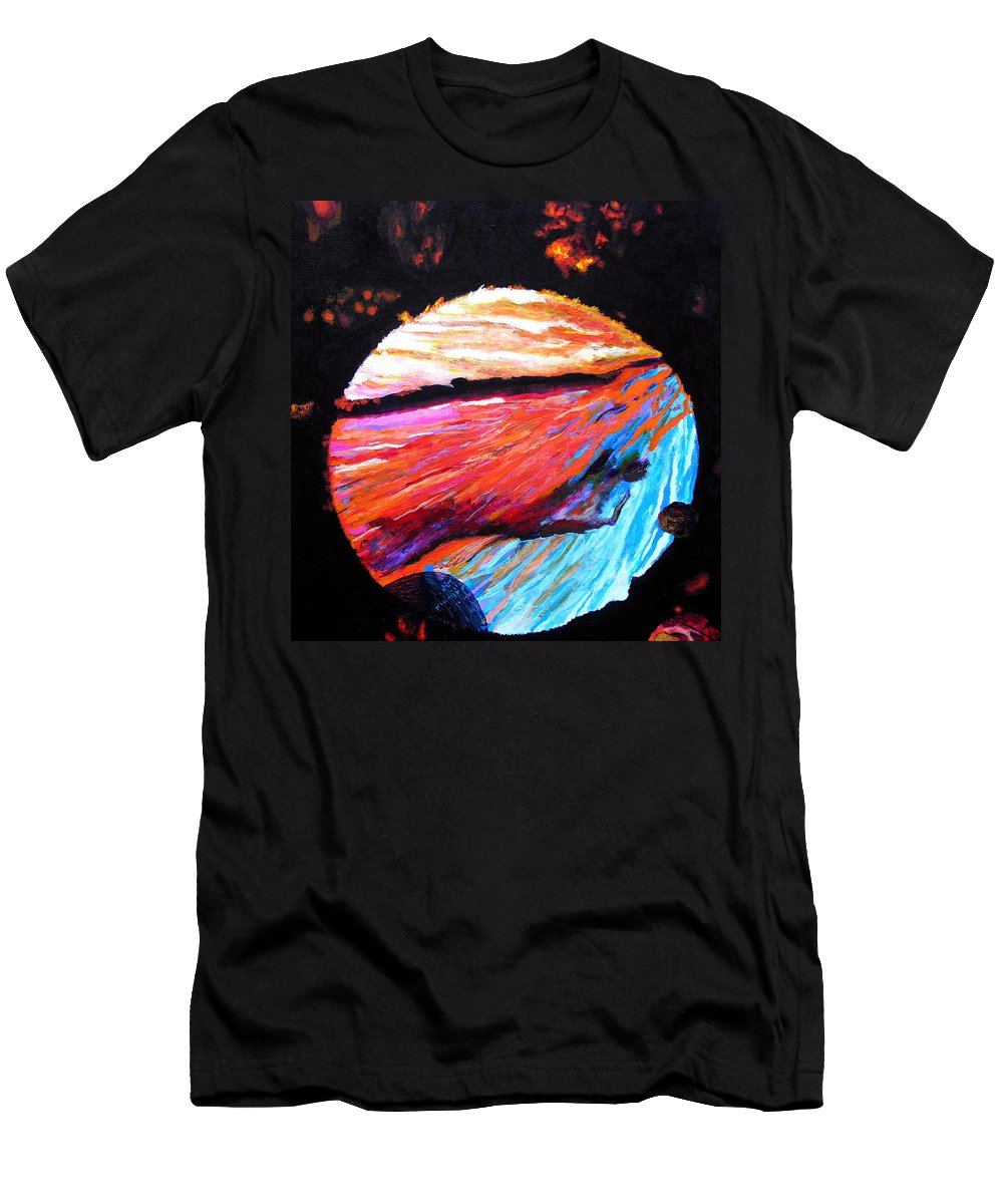 Abstract Men's T-Shirt (Athletic Fit) featuring the painting Inspire Three by Stan Hamilton