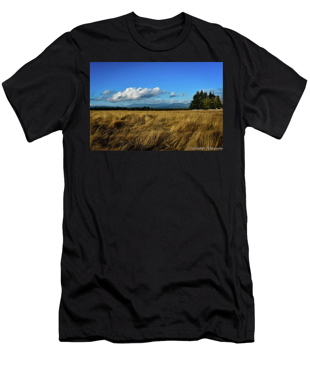 Landscape Men's T-Shirt (Athletic Fit) featuring the photograph Into The Grasslands. by Eric M Bass