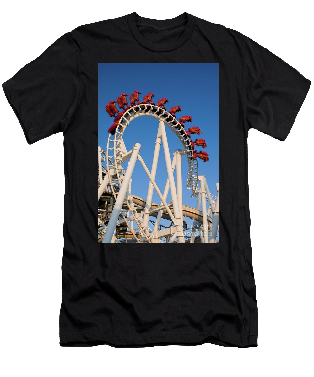 Fun Men's T-Shirt (Athletic Fit) featuring the photograph Inverted Roller Coaster by Anthony Totah