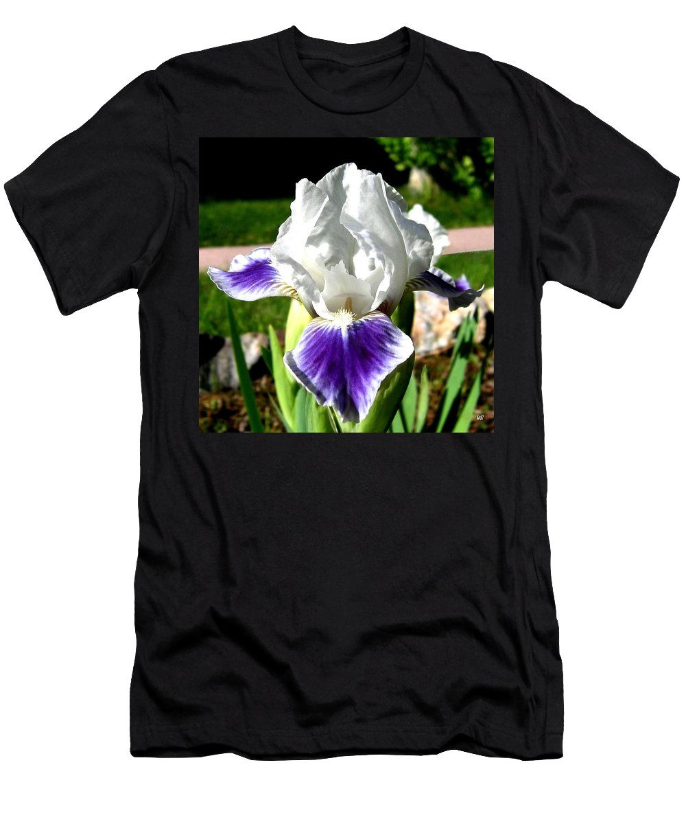 Iris Men's T-Shirt (Athletic Fit) featuring the photograph Iris Elegance by Will Borden