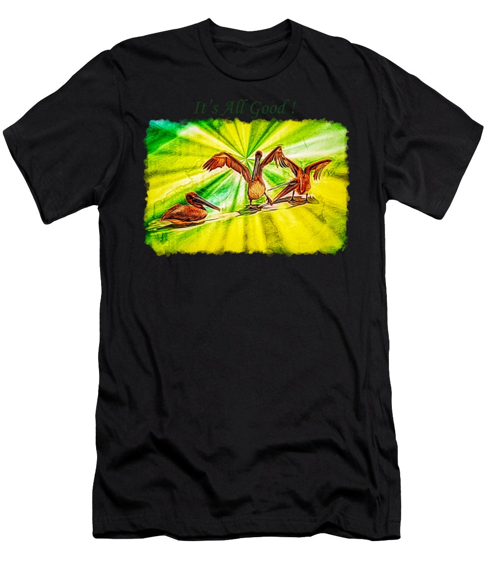 Wildlife Men's T-Shirt (Athletic Fit) featuring the photograph It's All Good 2 by John M Bailey