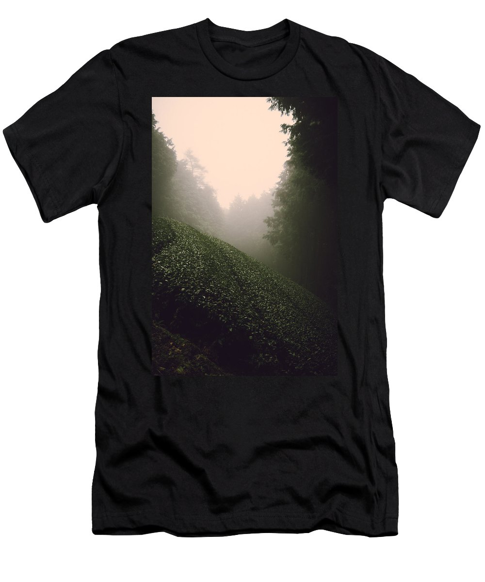 Japan Men's T-Shirt (Athletic Fit) featuring the photograph Japan Mountain Tea by Jonathan Craft
