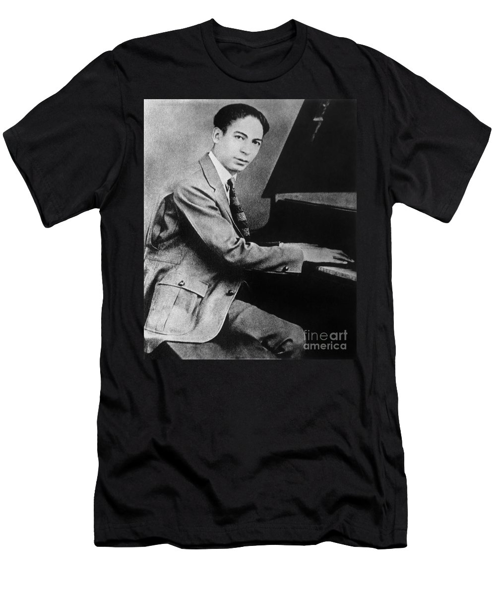 19th Century Men's T-Shirt (Athletic Fit) featuring the photograph Jelly Roll Morton. For Licensing Requests Visit Granger.com by Granger