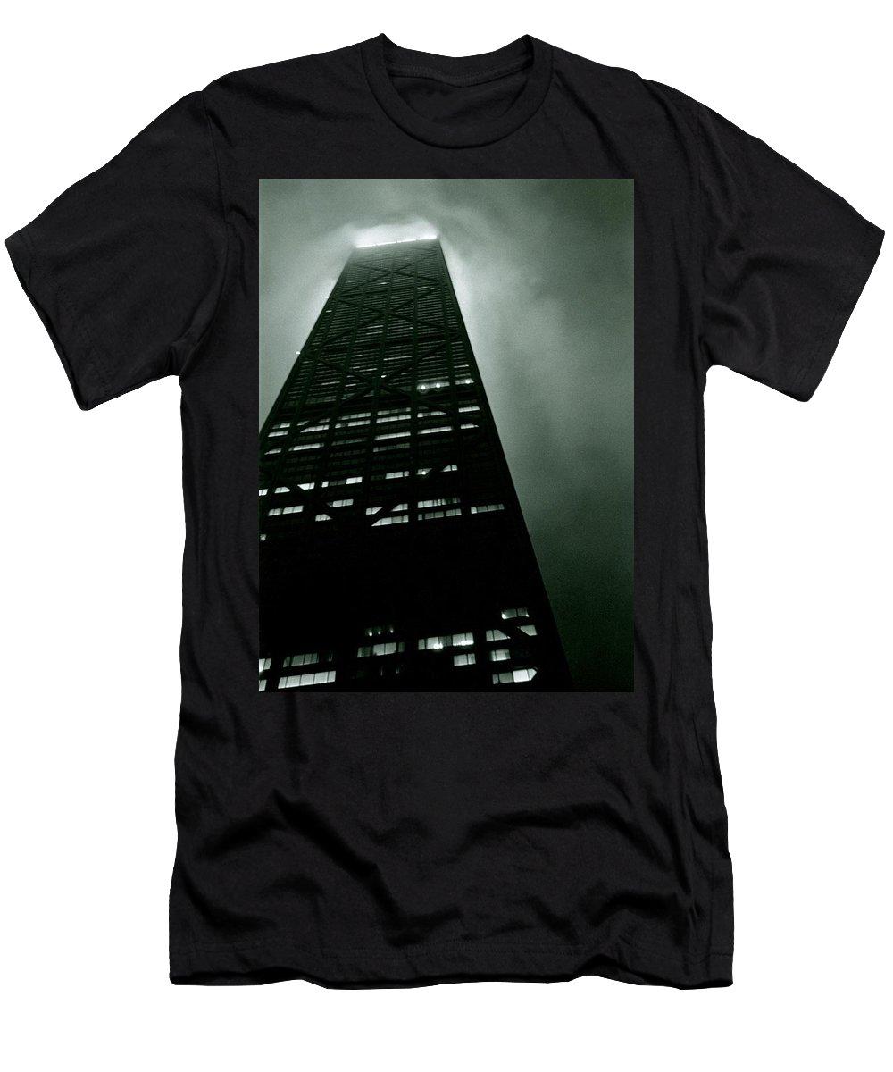 Geometric Men's T-Shirt (Athletic Fit) featuring the photograph John Hancock Building - Chicago Illinois by Michelle Calkins