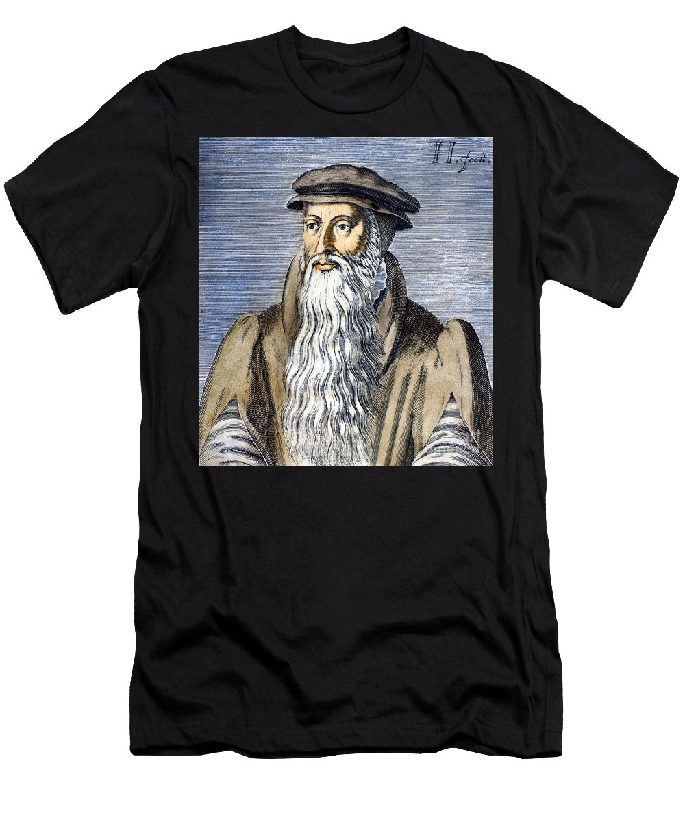 16th Century Men's T-Shirt (Athletic Fit) featuring the photograph John Knox (1505-1572) by Granger