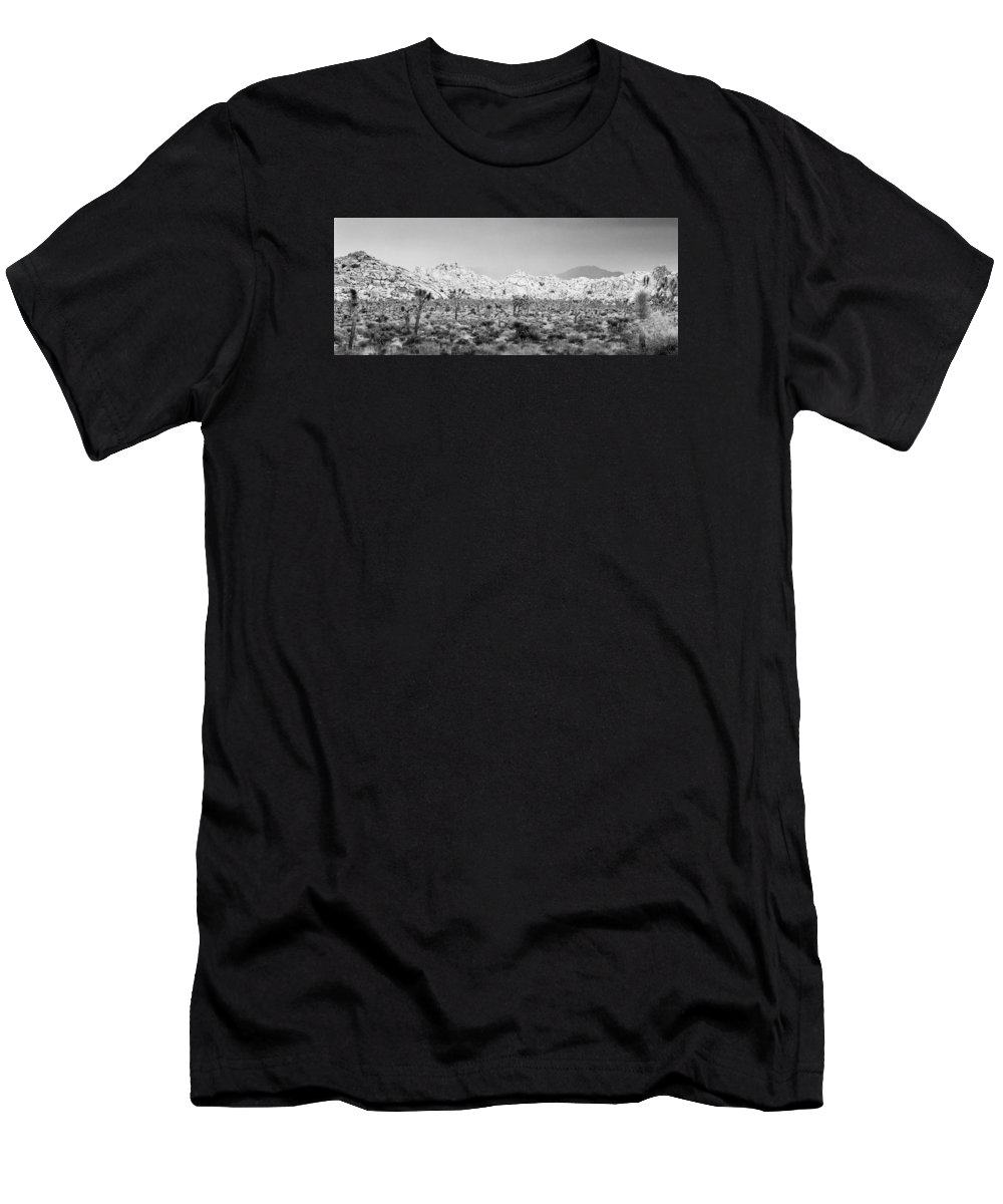 California Men's T-Shirt (Athletic Fit) featuring the photograph Joshua Tree Panoramic by Alex Snay