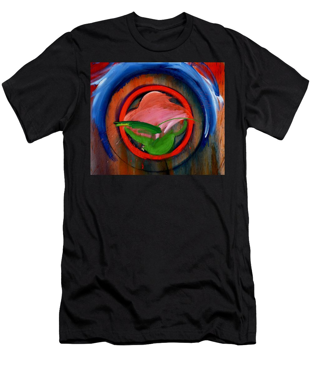Landscape Men's T-Shirt (Athletic Fit) featuring the painting Landscape by Charles Stuart