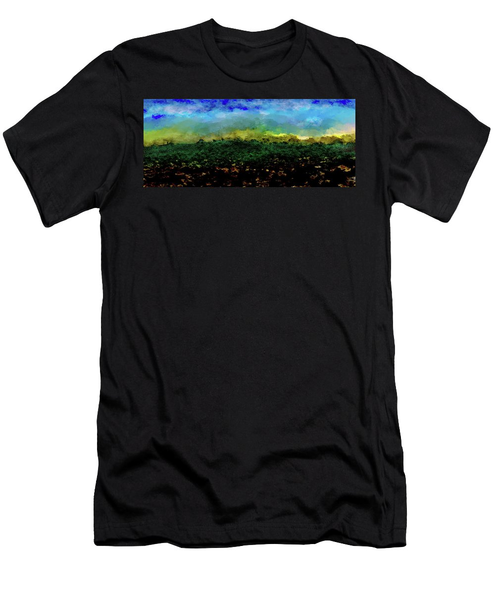 Men's T-Shirt (Athletic Fit) featuring the digital art Landscape by Vijay Prakash