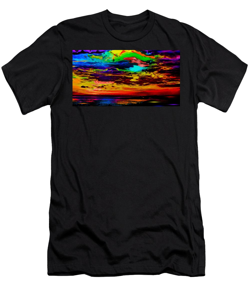 The World's Most Colorful Sunset Men's T-Shirt (Athletic Fit) featuring the photograph Leave No Colors Behind by Ron Fleishman
