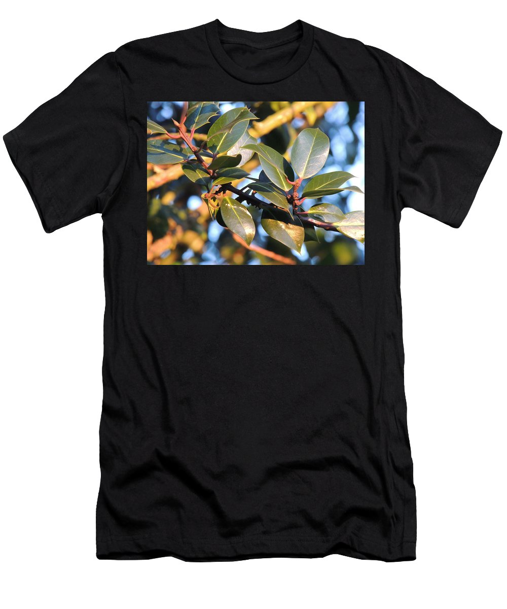 Leaves Men's T-Shirt (Athletic Fit) featuring the photograph Leaves by Ernestas Jurginauskis