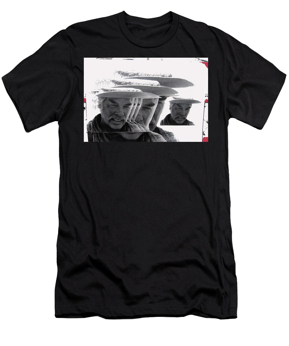 Lee Marvin Monte Walsh Variation 2 Old Tucson Arizona 1969-2012 Men's T-Shirt (Athletic Fit) featuring the photograph Lee Marvin Monte Walsh Variation 2 Old Tucson Arizona 1969-2012 by David Lee Guss
