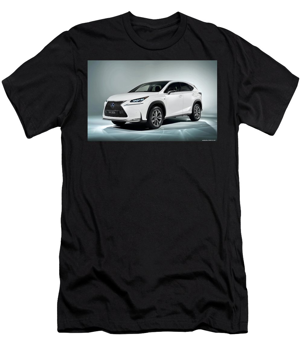 Lexus Nx 0h F Sport 0 120x1200 010 Men's T-Shirt (Athletic Fit) featuring the digital art Lexus Nx 300h F Sport 2014 1920x1200 010 by Anne Pool
