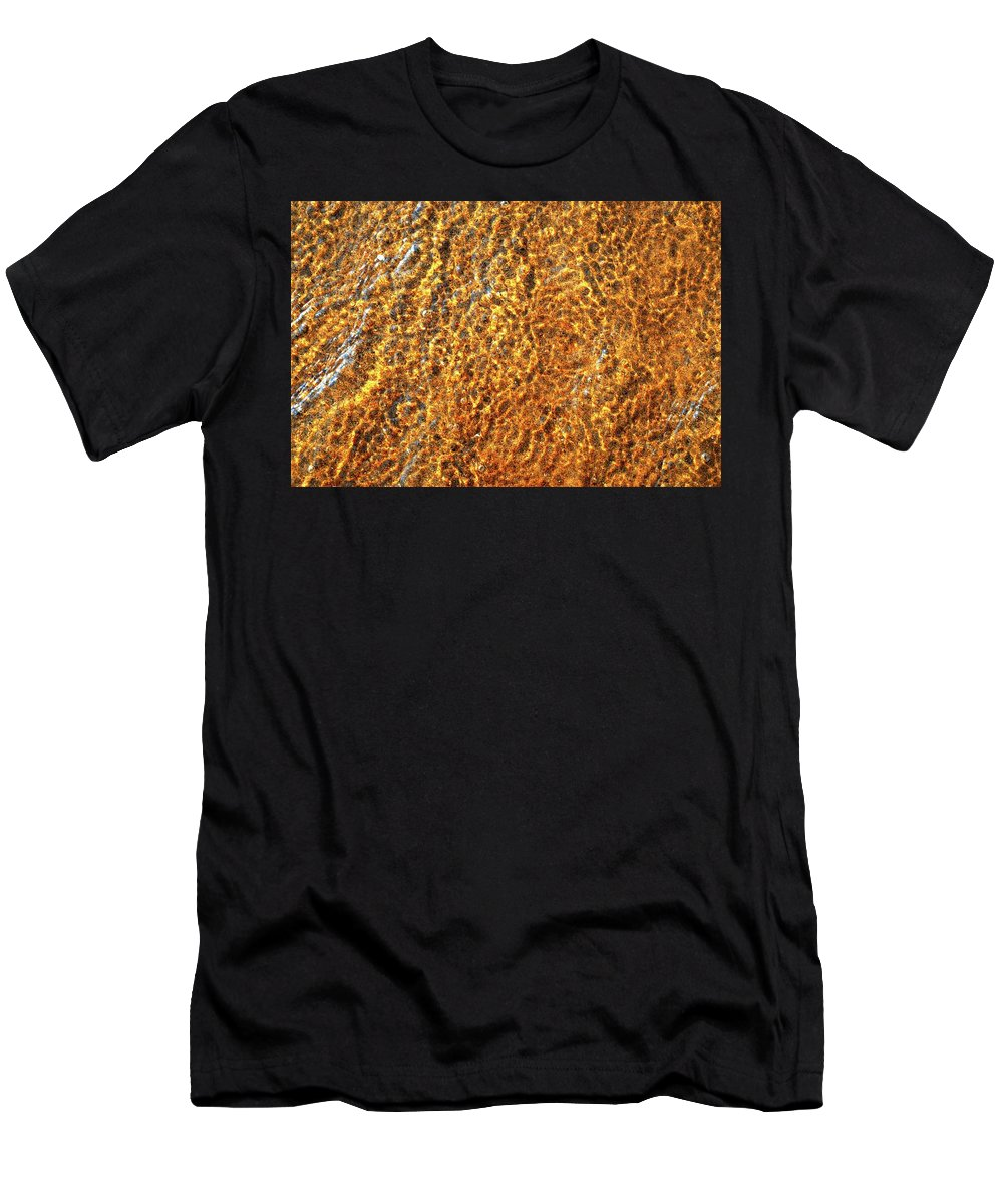 Abstract Men's T-Shirt (Athletic Fit) featuring the digital art Light And Water by Lyle Crump