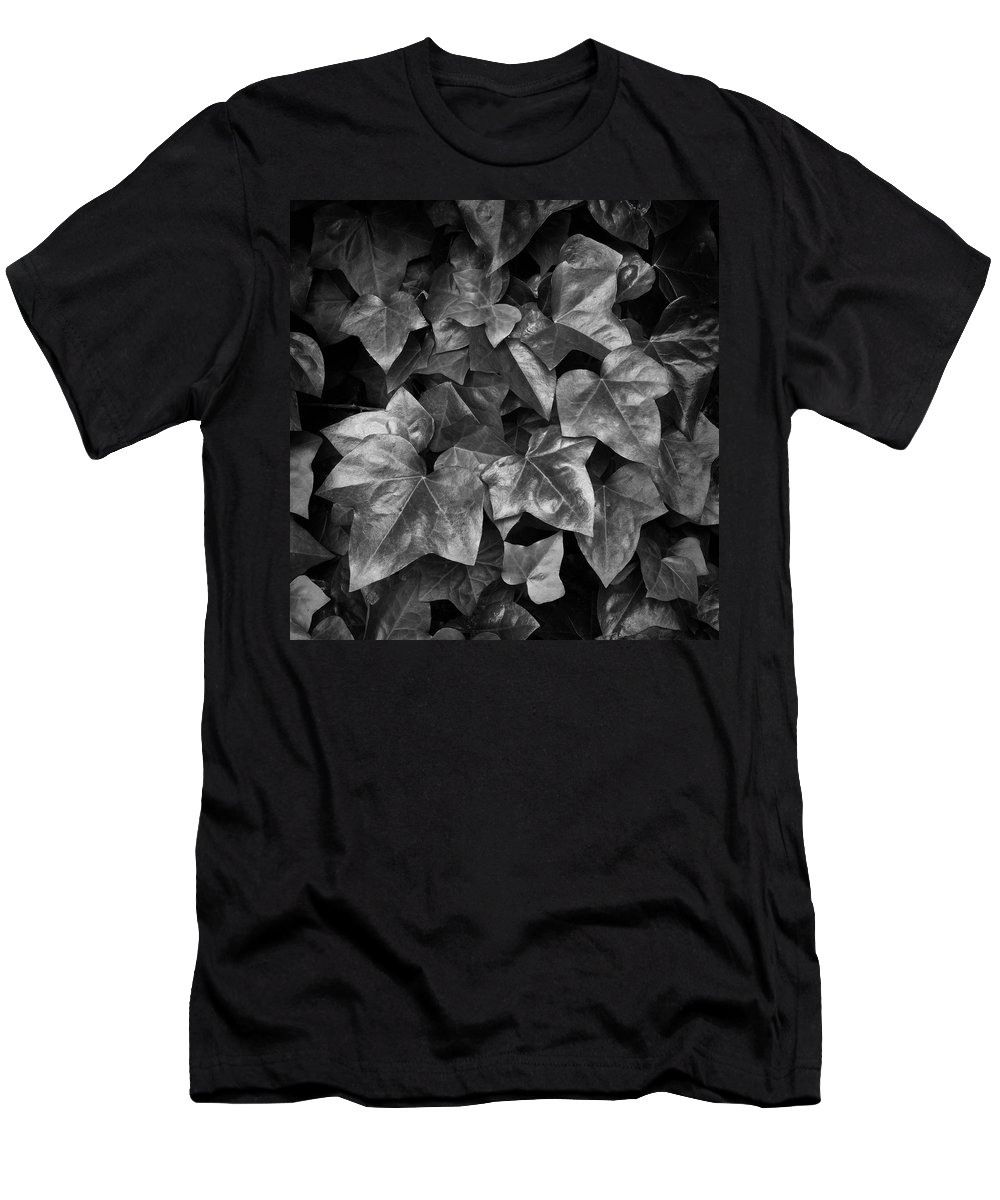 Leaves Men's T-Shirt (Athletic Fit) featuring the photograph Lone Ranch Leaves 4930 by Bob Neiman