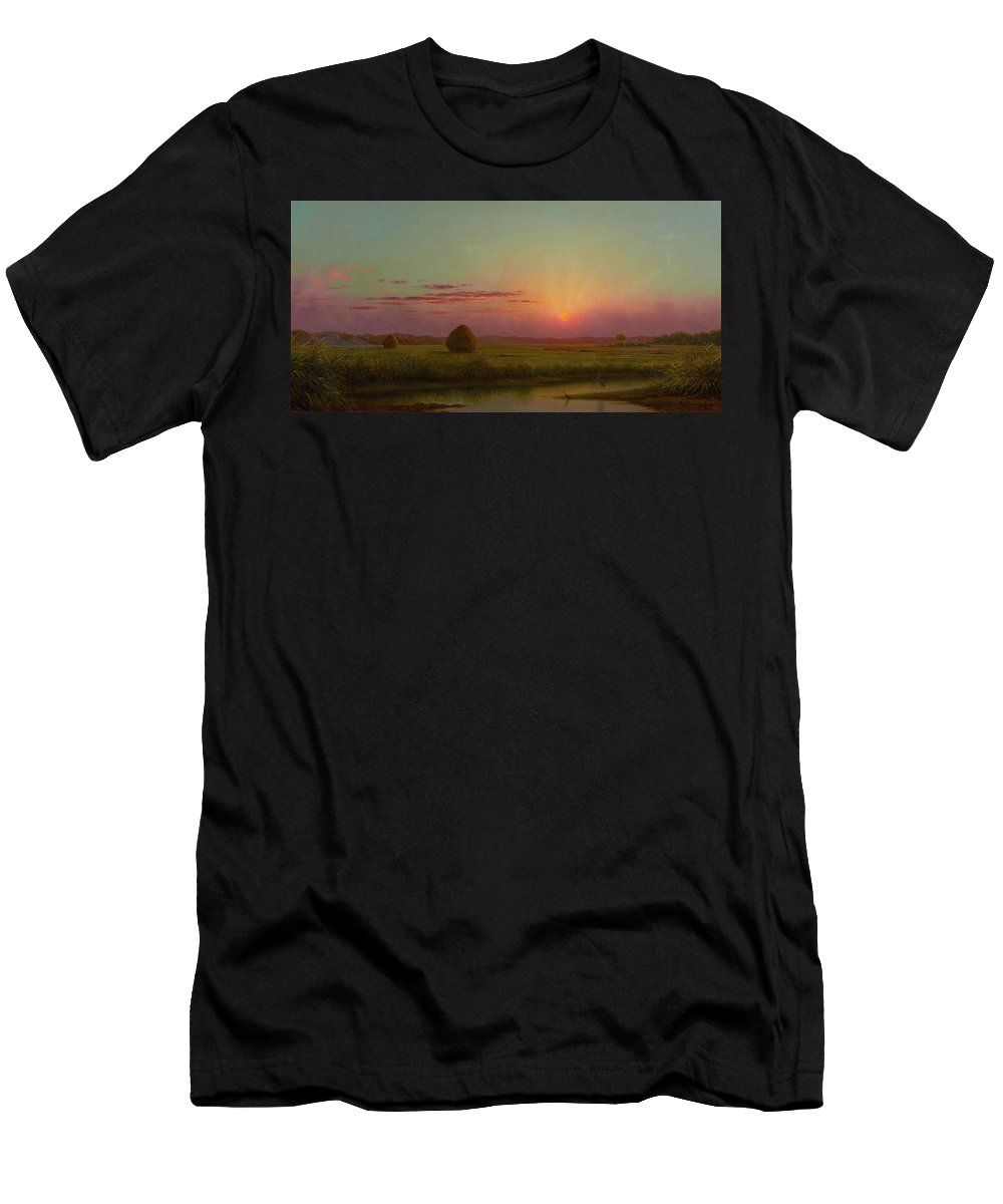 Lynn Meadows Men's T-Shirt (Athletic Fit) featuring the painting Lynn Meadows by Martin Johnson